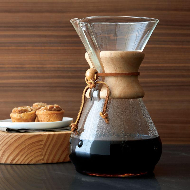 How To Use The Chemex Coffee Maker : Chemex 8-Cup Coffee Maker Crate and Barrel