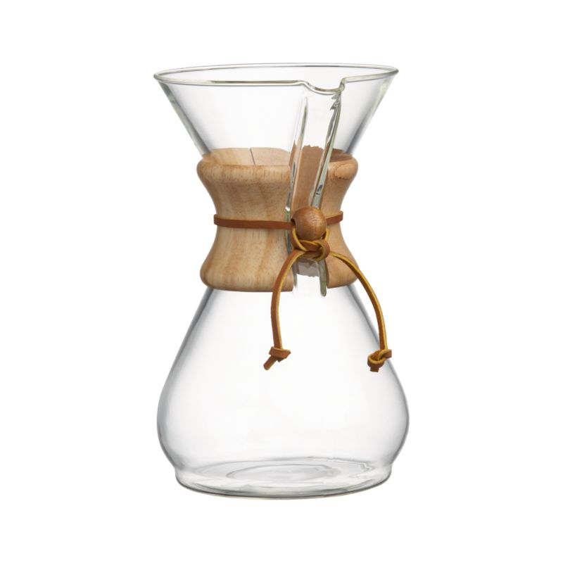 Pour Over Coffee Maker Crate And Barrel : Chemex 8-Cup Coffee Maker Crate and Barrel