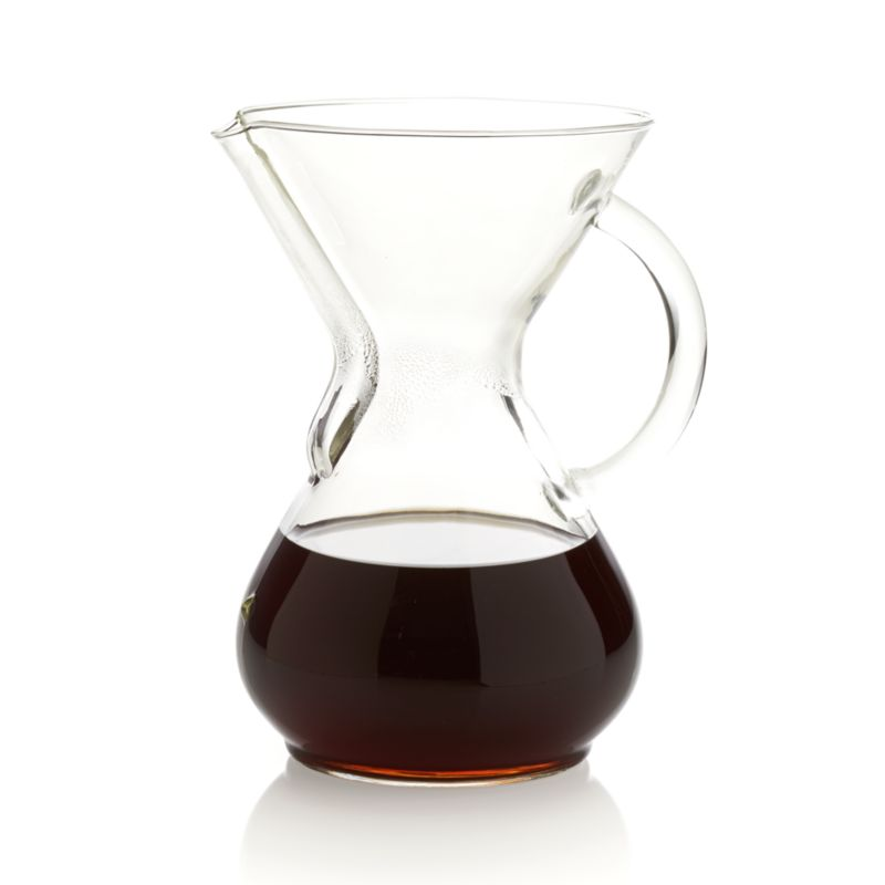 Chemex Glass-Handle 6-Cup Coffee Maker Crate and Barrel