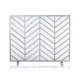 Chevron Fireplace Screen
