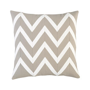 Chevron Off-White 18 Pillow