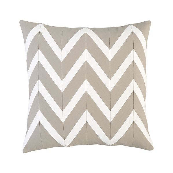 "Chevron Off-White 18"" Pillow"