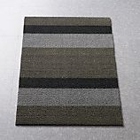 "Chilewich ® Silver-Black 36""x20"" Doormat"