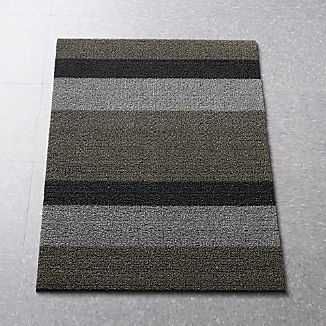 "Chilewich® Silver-Black 36""x20"" Doormat"