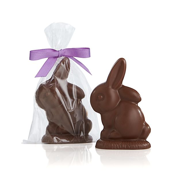 The Long Grove Confectionery Chocolate Baby Bunny Placecard