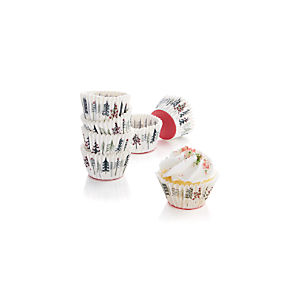 Set of 96 Christmas Mini Cupcake Papers