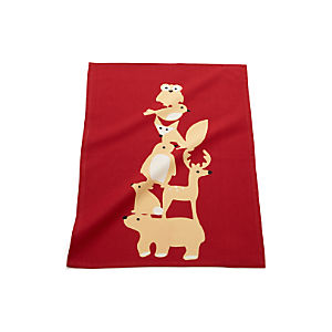 Christmas Red Critters Dish Towel