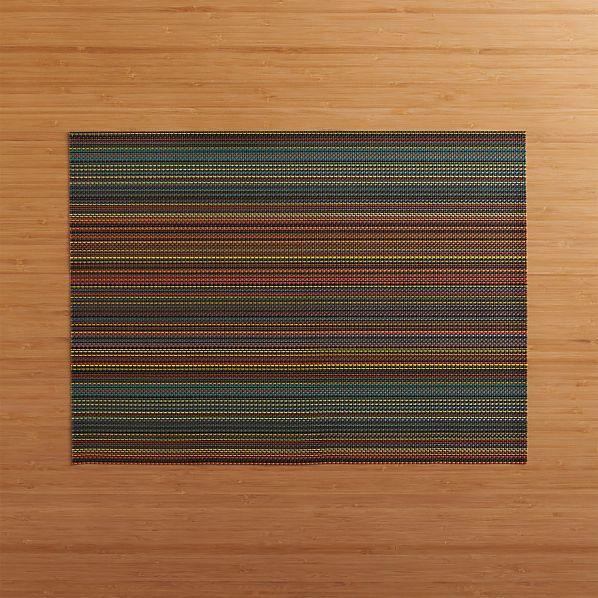 Chilewich ® Chroma Dark Stripe Placemat