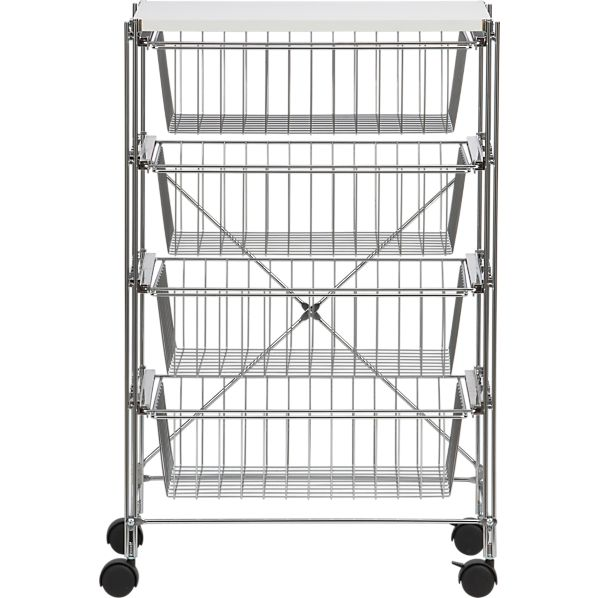 Chrome 4-Drawer Cart