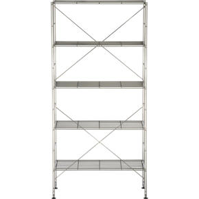 Chrome Five-Shelf Unit