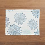 Chrysanthemum Blue Placemat
