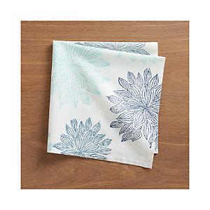 Chrysanthemum Blue Napkin