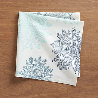 Chrysanthemum Blue Napkin