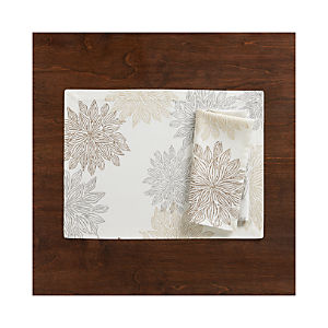 Chrysanthemum Neutral Placemat and Napkin