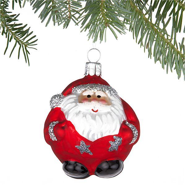 Chubby Santa Ornament