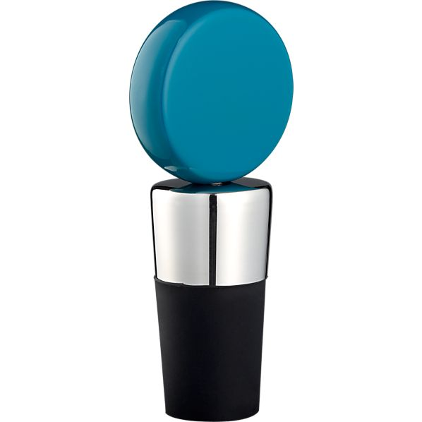 Circ Teal Bottle Stopper