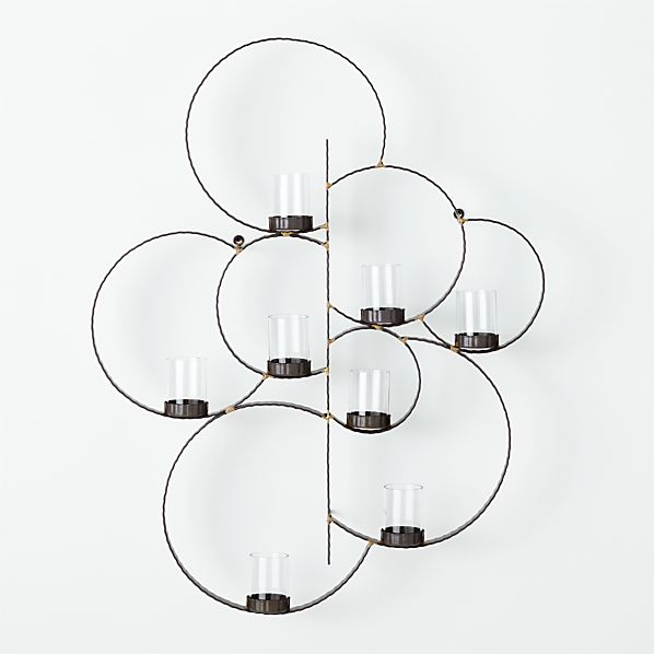 Circle Wall Candle Holder