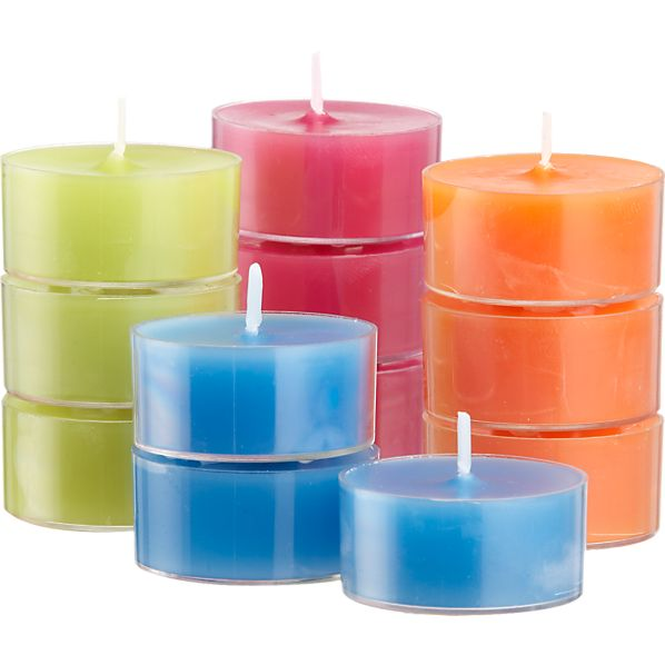 Set of 12 Citronella Multi Tealight Candles