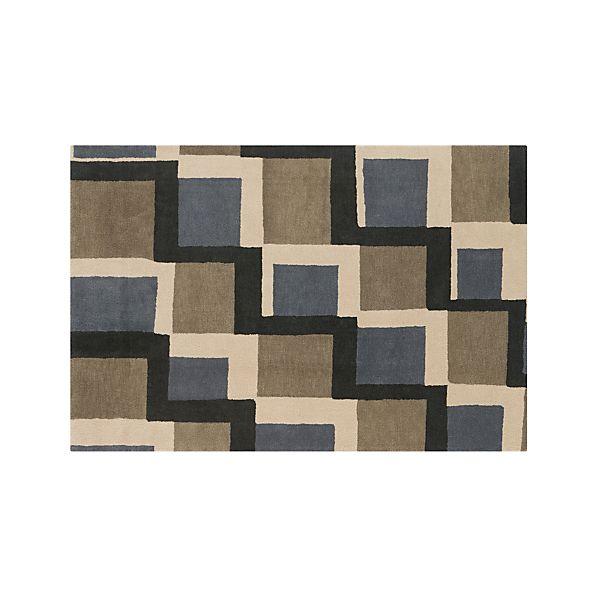 City Grey Wool 6'x9' Rug