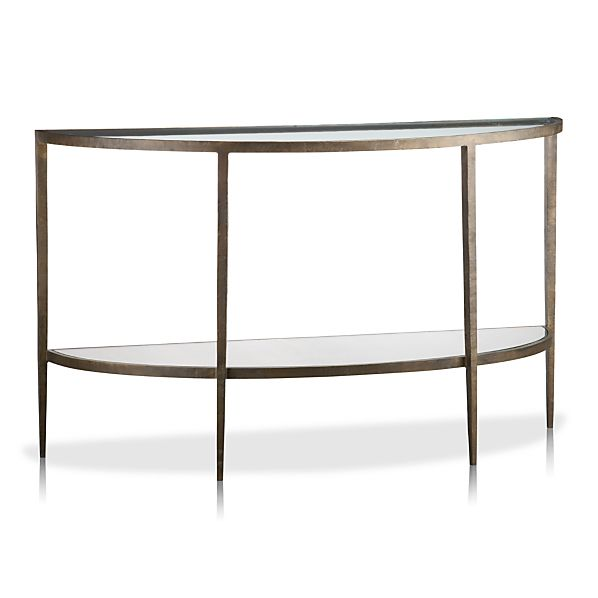 White console table - White demilune console table ...