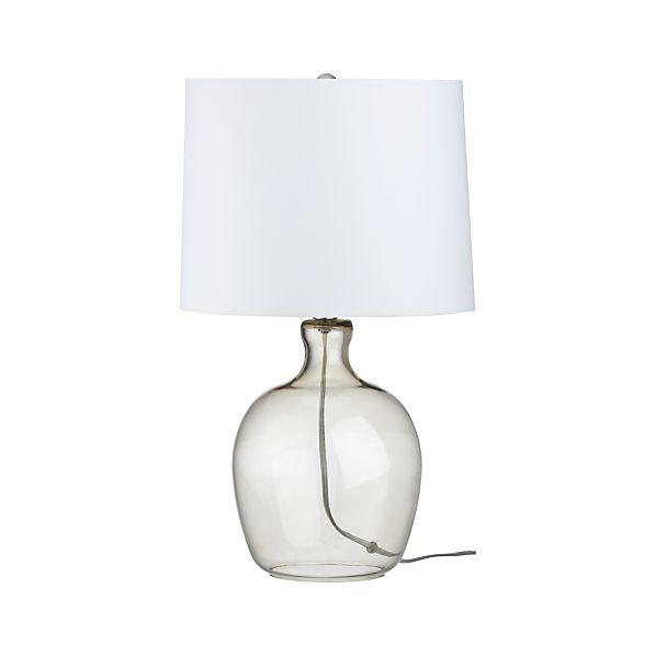 Clarity Smoke Table Lamp