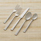 Clark 20-Piece Flatware Set: four 5-piece place settings (salad fork, dinner fork, knife, soup spoon and teaspoon).