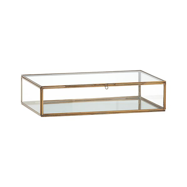 Clarus Large Brass Display Box