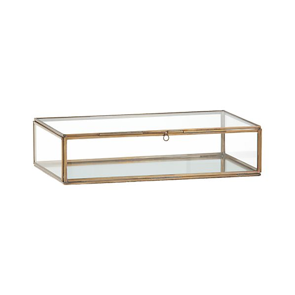 Clarus Small Brass Display Box Crate And Barrel