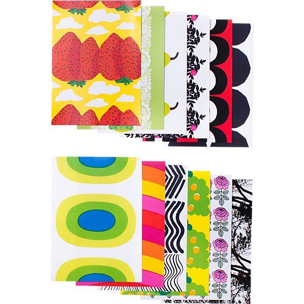 Set of 12 Marimekko Classics Postcards