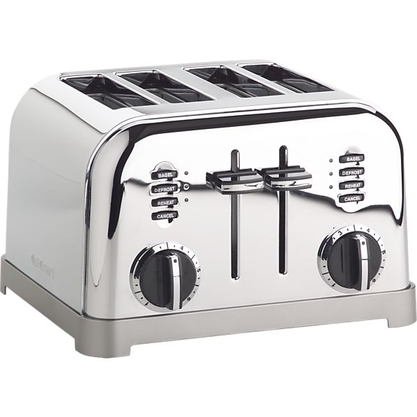 4 Slice Toaster ~ Cuisinart classic slice toaster crate and barrel