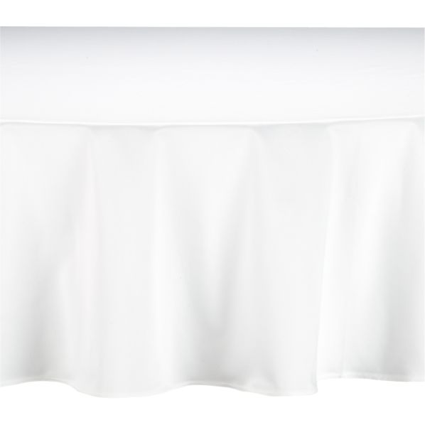 "Classic White 90"" Round Tablecloth"
