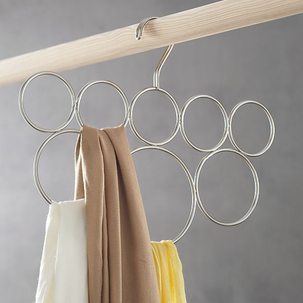 Classico 8-Loop Scarf Hanger in Closet | Crate and Barrel