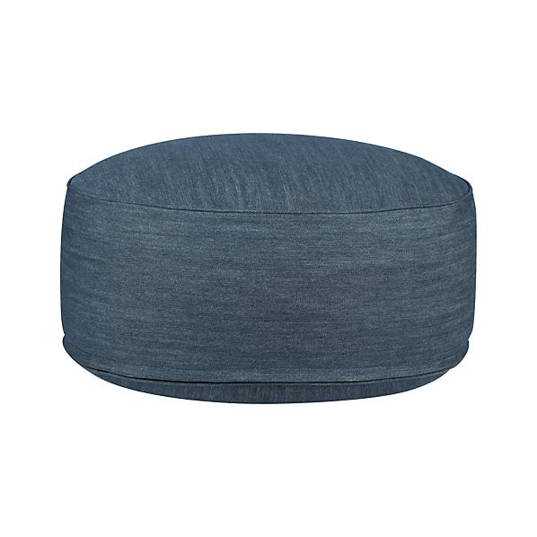 "Clint Denim 20"" Pouf"