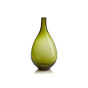 Clio Olive Green Vase