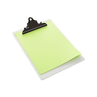 three by three ® White Dry Erase Clipboard