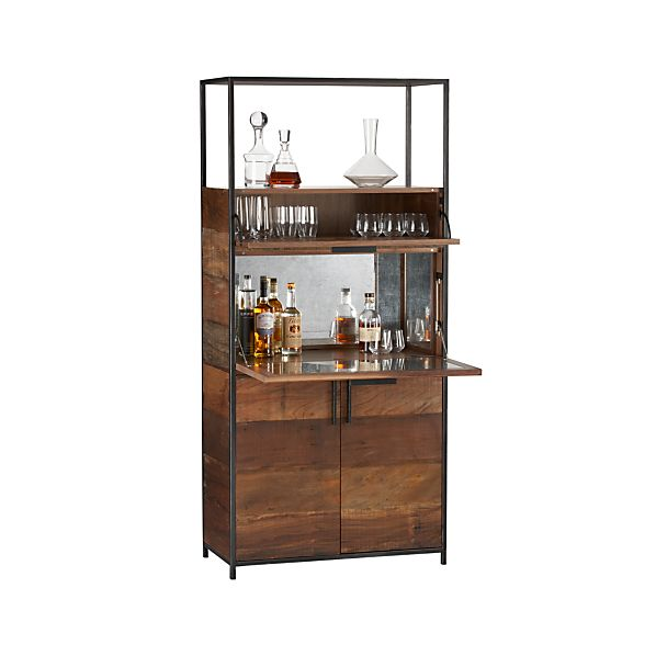clive bar cabinet crate and barrel