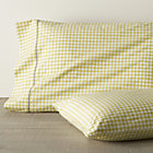 Set of two Clover Bamboo standard pillowcases.