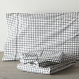 Clover Grey King Sheet Set
