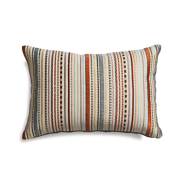 "Clovis 18""x12"" Pillow with Down-Alternative Insert"