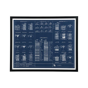 Cocktail Blueprint Print
