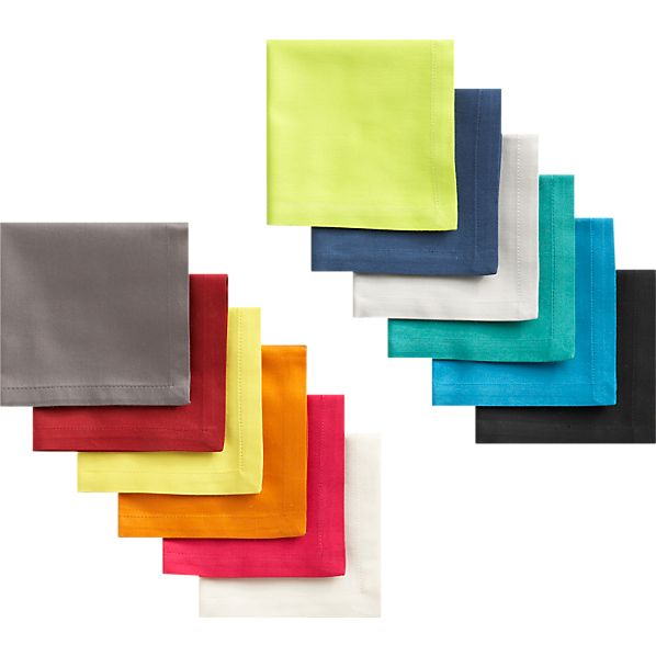 Set of 12 Multicolor Cocktail Napkins