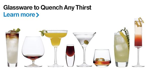 Glassware to Quench Any Thirst