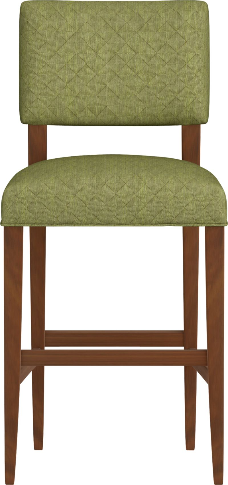"Cody receives your guests with all the generous proportions and comfort of a fully upholstered barstool, but keeps the room light and airy with its open back design and minimal lines. The look is soft and modern: a tight-cushioned but very padded seat and contoured back made for lingering, and elegant tapering solid hardwood legs.<br /><br />After you place your order, we will send a fabric swatch via next day air for your final approval. We will contact you to verify both your receipt and approval of the fabric swatch before finalizing your order.<br /><br /><NEWTAG/><ul><li>Eco-friendly construction</li><li>Certified sustainable, kiln-dried hardwood frame</li><li>Tight seat and back cushions with soy-based foam and web suspension</li><li>Rayon-polyester-cotton blend fabric with self welt detail</li><li>32""H seat sized for bars</li><li>Made in North Carolina, USA</li></ul>"