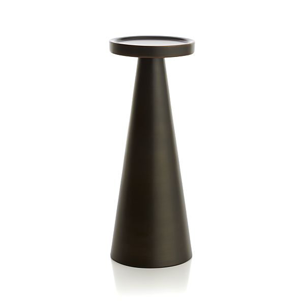 Cohen Large Black Metal Pillar Candle Holder