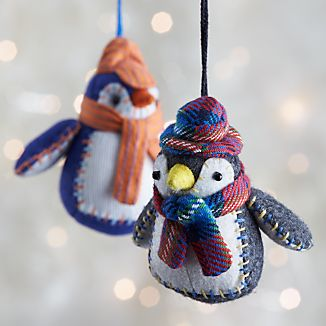 Collegiate Penguin Ornaments