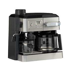 DeLonghi® Combi 10 Cup Coffee Maker-4 Cup Espresso Maker