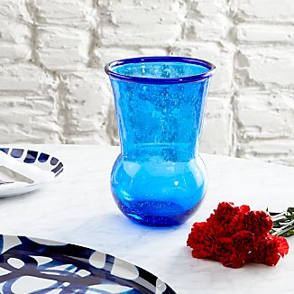 Como Bubbled Blue Vase