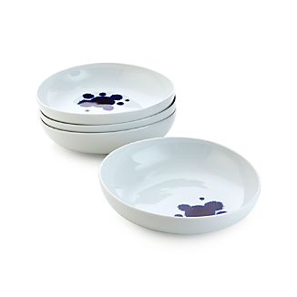 Set of 4 Como Splash Deep Plates