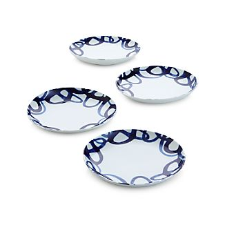 Set of 4 Como Swirl Dessert Plates