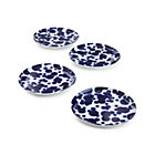 Set of four Como Splash Dinner Plates.